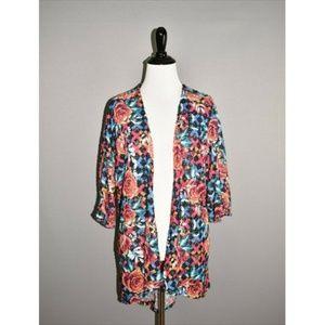 LULAROE Multi-Color Floral Hi-Low Cardigan